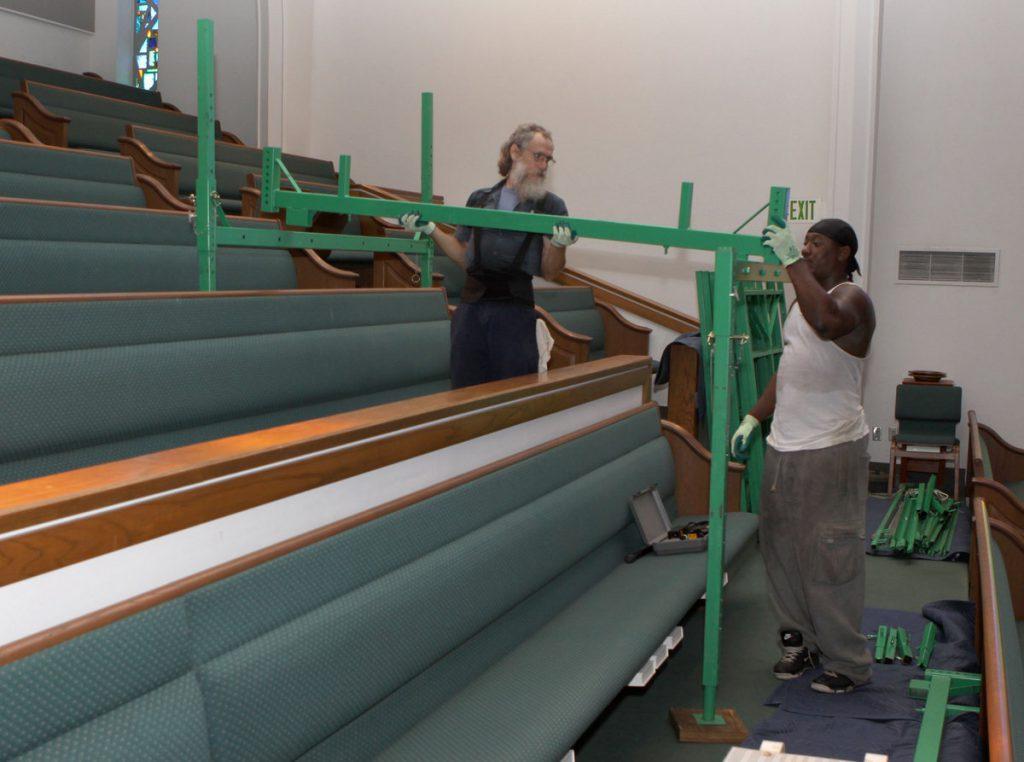 Church scaffold assembly