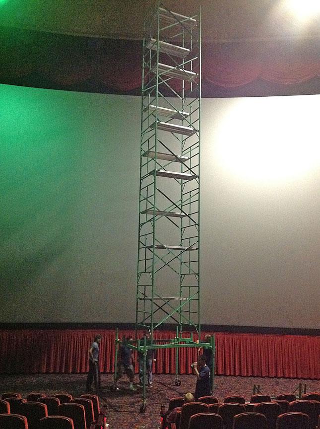 Imax theater scaffolding
