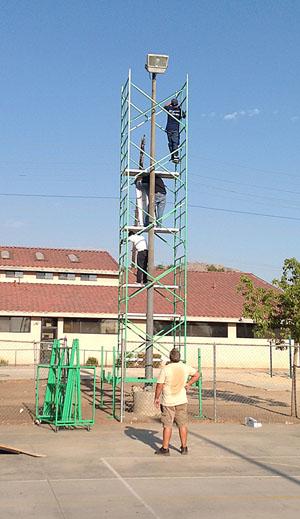 Lightbulb change ladder alternative