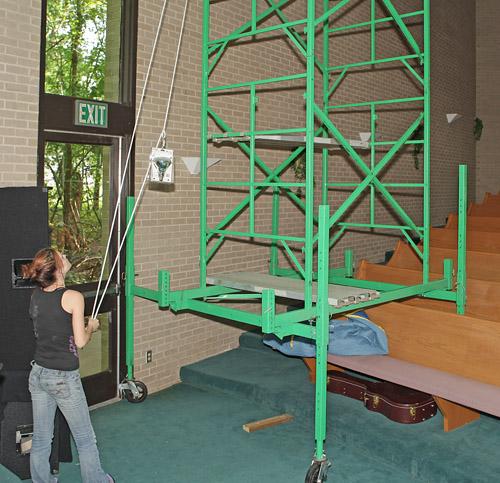 Lightbulb ladder for churches