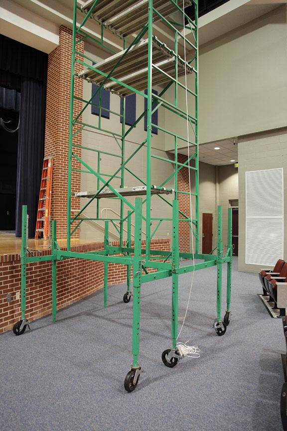 Auditorium scaffolding