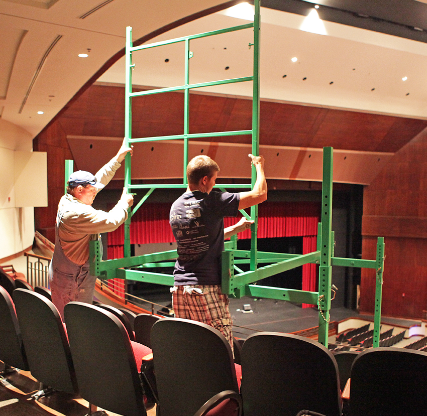 Multilevel scaffolding for auditoriums